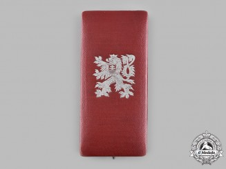 Czechoslovakia, Republic. An Order of the White Lion, IV Class Officer Case, c.1930