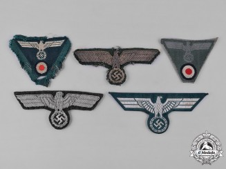 Germany, Heer. A Group of Heer (Army) Uniform Eagle Insignia