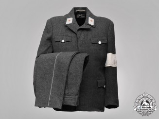 "Germany, DRK. A 1945 Deutsches Rotes Kreuz (""German Red Cross"") Uniform"