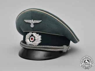 Germany, Heer. An Army Infantry Officer's Visor Cap by HPC, Named