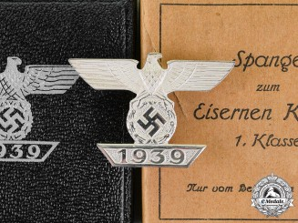 Germany. An Absolutely Mint Cased Clasp to the Iron Cross 1939 First Class, by B.H Mayer, Type-A