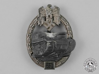 Germany, Heer. A Special Grade Tank Badge for 25 Panzer Engagments, by Josef Feix & Söhne