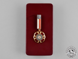 Poland (People's Republic). Medal of Merit for Polish Culture, Cased