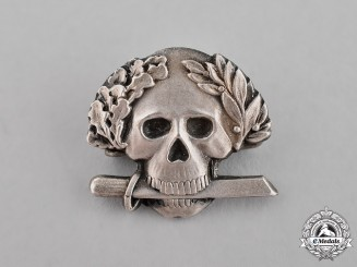 Italy (Kingdom). A Black Brigade Skull Badge