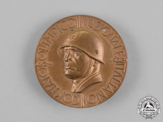 Italy, Kingdom. An Rare National Olympic Committee at the XI Berlin Summer Olympic Games Medal 1936