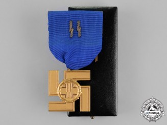 Germany. A SS 25-Year Long Service Award in its Presentation Case of Issue