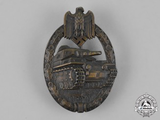 "Germany. A Tank Badge, Bronze Grade, Unknown Maker I, Type A - ""So Called Juncker"""