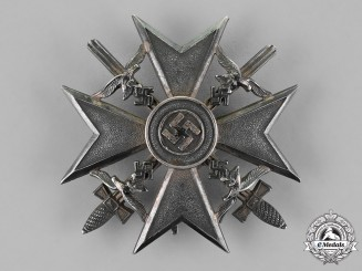 Germany. A Spanish Cross with Swords, Silver Grade, by C.E. Juncker