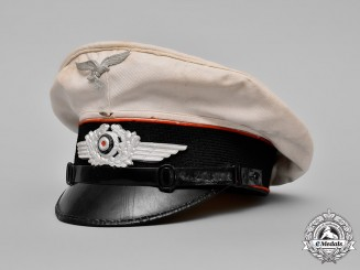 Germany, Luftwaffe. An Artillery NCO's Summer Visor Cap