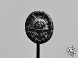 Germany. A Wound Badge Miniature Stick Pin, Black Grade
