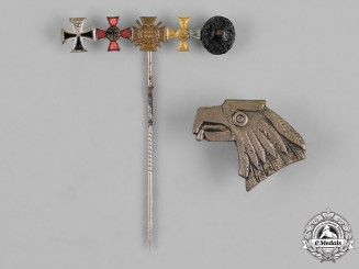 Germany. A Lot of Two First and Second War German Insignia