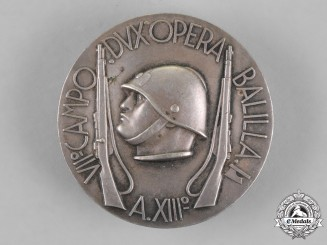 "Italy, Kingdom. A Fascist Youth ""Opera Balilla"" Field Badge"