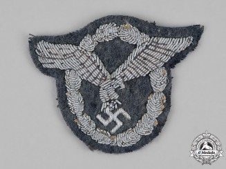 Germany, Luftwaffe. An Officer's Pilot's Badge, Bullion Version