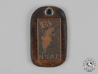 Germany. A 1936 Swedish National Socialist Party Membership Tag