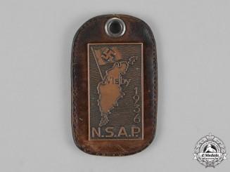Germany. A 1936 Swedish National Socialist Party Membership Tag