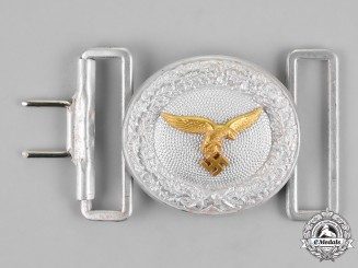 Germany. Luftwaffe. An Officer's Brocade Dress Belt Buckle, by Overhoff & Cie