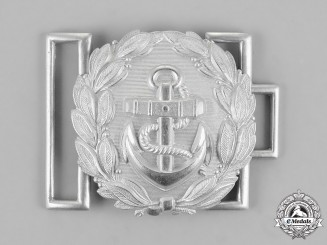 Germany, Kriegsmarine. An Administrative Official's Brocade Dress Belt Buckle, by Friedrich Linden