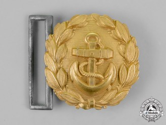 Germany, Kriegsmarine. A Line Officer's Brocade Dress Belt Buckle