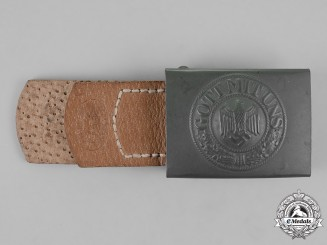 Germany, Wehrmacht. A Standard Service Belt Buckle, by H. Arld of Nürnberg, c. 1942