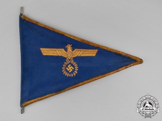 Germany, Kriegsmarine. An Officer's Vehicle Pennant