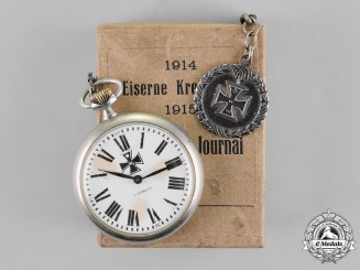Prussia. A Mail-Order Iron Cross 1914 Commemorative Pocket Watch of The German Journal