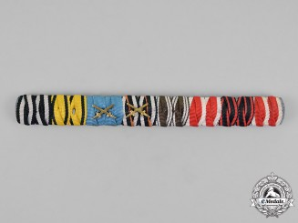 Prussia, State. An Extensive Prussia - Württemberg First and Second War Medal Ribbon Bar