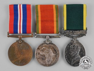 South Africa. A Medal Trio to Staff Sergeant H.T.W. Bell, Technical Service Corps