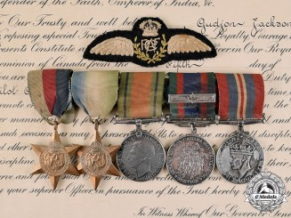 "Canada. A Medal Group & Documents to Pilot Officer Gudjon ""Guy"" Jackson, RCAF"
