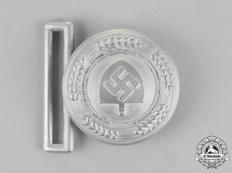 Germany, RAD. A National Labour Service Leader's Service Belt Buckle, by F.W. Assmann & Söhne