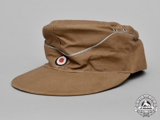 Germany, Kriegsmarine. An Officer's Tropical M43 Field Cap