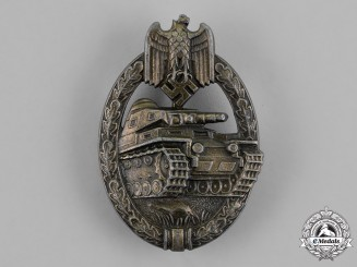 Germany, Wehrmacht. A Tank Assault Badge, Bronze Grade, by Unknown Maker I