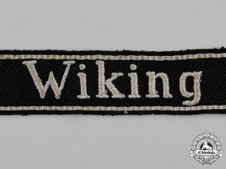 "Germany, Waffen-SS. A 5th Waffen-SS Panzer Division ""Wiking"" EM/NCO's Cuff Title; Uniform Removed"
