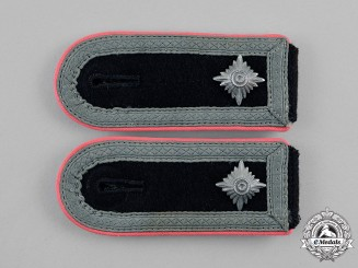 Germany, Waffen-SS. A Set of Panzer SS-Oberscharführer Shoulder Straps