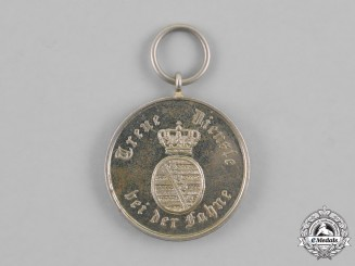 Saxony, Kingdom. A Long Service Medal, for Nine Years of Service