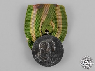 Sachse-Coburg-Gotha. A Medal for the Silver Wedding Anniversary of Duke Alfred