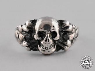 """Germany. Silver """"835"""" Skull Ring, c. 1935"""