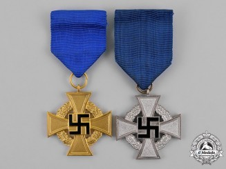 Germany. Two Civil Faithful Service Medals