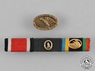 Germany, Republic. A Medal Ribbon Bar of Three Medals, Awards, and Decorations, 1957 Version