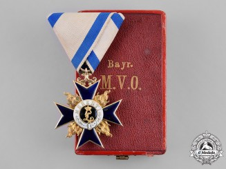 Bavaria, Kingdom. An Order of Military Merit in Gold Third Class, by Gebrüder Hemmerle