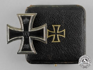 Prussia, State. A Cased Iron Cross 1914 First Class,   Amiens / 4./4.1918