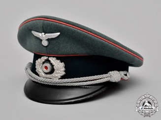 Germany, Wehrmacht. A Panzer Officer's Visor Cap, by Pekürus