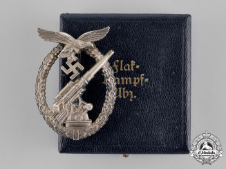 Germany, Luftwaffe. An Early Flak Badge by Brehmer, In Case of Issue