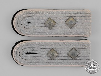 Germany, SS. A Set of Infantry Senior Storm Leader (Hauptsturmführer) Shoulder Boards