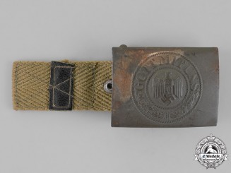 Germany, Wehrmacht. A German Africa Corps Standard Issue Belt Buckle