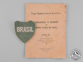 Brazil. An Brazilian Expeditionary Force Shoulder Patch and Booklet