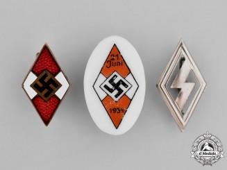 Germany. Three HJ and DJ Badges