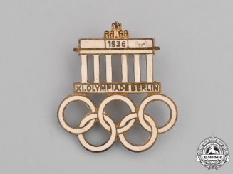 Germany. A 1936 XI Summer Olympic Games in Berlin Badge, by Hermann Aurich