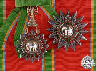 Thailand, Kingdom. A Most Exalted Order of the White Elephant, 1st Class Grand Cross, c.1950