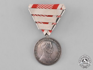 Austria, Imperial. A Silver Bravery Medal, First Class, Fourth Award, c.1917