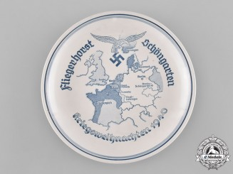 Germany, Luftwaffe. A Schöngarten Military Airport Christmas Plate, 1940
